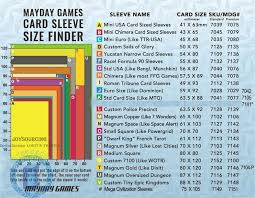 Trading Card Size Chart Card Sleeves Jl 833 82x122 S100 For 80x120mm Like Dixit Board Games Joysourcing