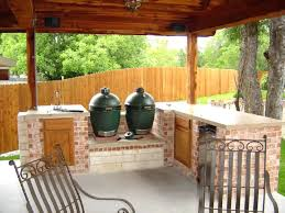 outdoor kitchen with green egg incredible big green egg outdoor tchen ideas top on tchen concrete