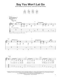 Say You Won T Let Go Strumming Pattern