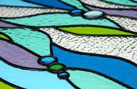 nautical stained glass windows art in home copper foil window