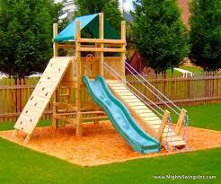 Kid backyard playground set