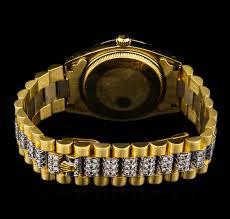 watch auction gold men s and women s watches seized assets rolex auction 14kt yellow gold diamond president men s watch