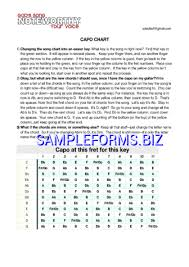 Banjo Capo Chart Capo Chart Templates Samples Forms