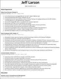 Fast Food Restaurant Manager Resume New Restaurant Manager Resume