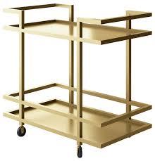 Victoria Bar Cart With Gold Metal Frame modern-bar-carts