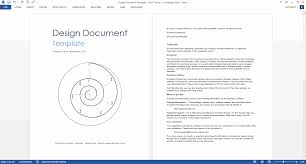 design document ms word template design document template ms word blue theme