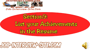 Resume Achievement Statements Listing Your Accomplishments On A