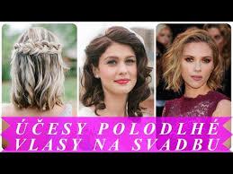Pekne účesy Polodlhé Vlasy Na Svadbu 2018 Moderné účesy