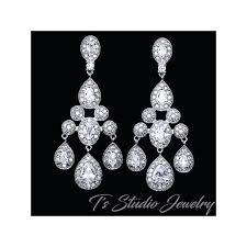 cubic zirconia chandelier earrings sapphire blue bridal chandelier bridal earrings nadri cubic zirconia chandelier earrings