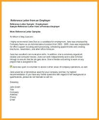 Employer Recommendation Letter Sample Job Reference Letter Example Arlingtonmovers Co
