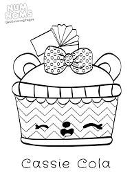 Kleurplaat Num Noms Idee Sketch Coloring Page