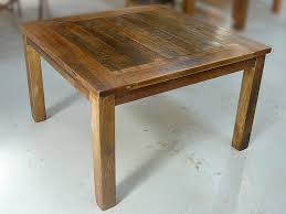 wood dining room table square rustic