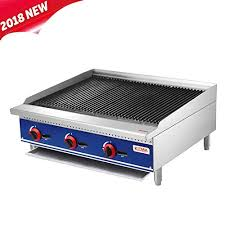 commercial countertop radiant charbroiler kitma 36 inches natural gas char broiler with grill restaurant equipment for barbecue