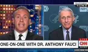 When he faces power, no one gets a pass. Coronavirus Us Chris Cuomo Interviews Anthony Fauci On Cnn Daily Mail Online