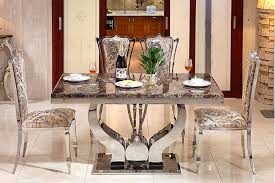 modern glass dining room set dining table with 6 chairs