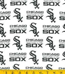 chicago white sox cotton fabric tossed print