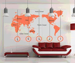 wall sticker 223x170cm large world map words clock wall art vinyl decal stickers home decor removable mural
