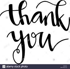 Thank You Cursive Font Cursive Writing Black And White Stock Photos Images Alamy