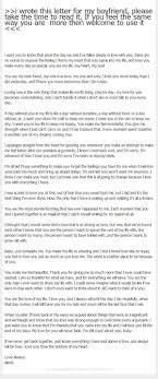 Boyfriend Thank You Letter Sample I Wrote This Letter For My Boyfriend Please Take The Time To Read 17