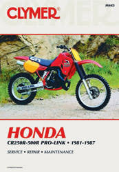 honda motorcycle manuals diy repair manuals clymer honda cr250r 500r pro link motorcycle 1981 1987 service repair manual