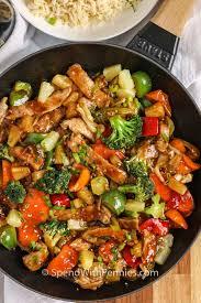 pork stir fry with an easy homemade