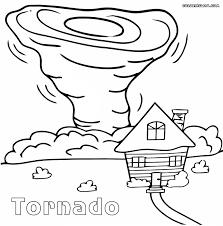 Tornado Coloring Sheets