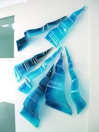 wall sculptures melt designs glass