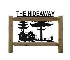details about personalized log cabin sign outdoor wood signs