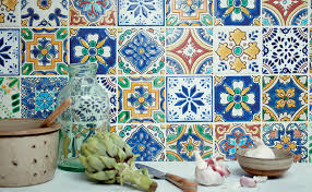 inspired by the shades of mexican ceramics and interiors these colourful patterned tiles from fired earth will add a touch of boho