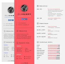 Free Clean Simple / Minimal Interactive Resume Design Template For ...