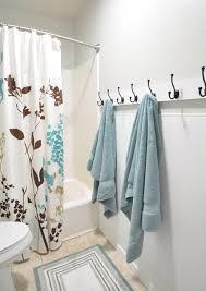 Wood Towel Rack With Hooks Alternate Image Wood Towel Rack With