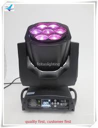 2017 dj lighting equipment moving head 4in1 rgbw dmx beam zoom bee eye 7x15w mini zoom
