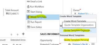 Quote Template Create a Quote Template with One Click in Dynamics CRM Edgewater 83