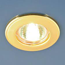 Встраиваемый <b>светильник Elektrostandard 7002</b> MR16 WH/GD ...