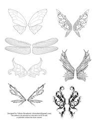 Fairy Wing Template Just To Tide You Over Heres Another Set Of