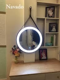 Hình ảnh :Gương treo tường dây da đèn led