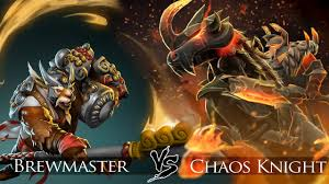 dota 2 brewmaster vs chaos knight one click battle youtube