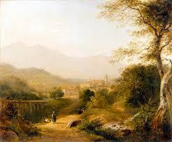 italian landscape painting italian landscape by joseph william allen