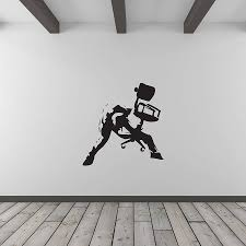 art for office walls. Banksy Rockstar Office Worker Wall Art For Walls