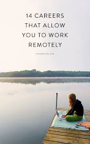want to work remotely consider one of these careers to work consider one of these 14 careers unique jobs unique careers career tips