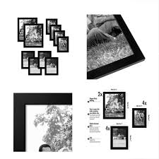 details about americanflat 10 piece multi pack black frames includes two 8x10 frames four 5x7