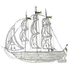 pirate ship chandelier crystal at for diy