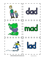 Word With Ad Ad Word Family Printables Kindergarten Mom