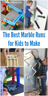 The BEST Marble Runs for Kids to Make! Fun ideas using materials from  around the