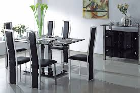 glass dining room table with leather chairs. furniture. rectangle black dining glass room table with leather chairs o
