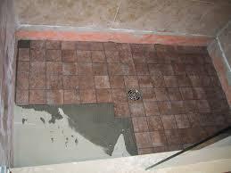 replacing tile shower floor designs