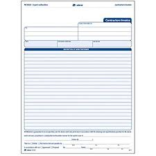 Contractor Invoice Samples Amazon Com Adams Contractor Invoice Forms 8 5 X 11 44 Inch 3