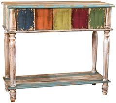 Image French Image Unavailable Amazoncom Amazoncom Leo Solid Wood Drawer Console Table In Antique