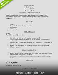 Caregiver Resume Sample a perfect resume example nicetobeatyoutk 45