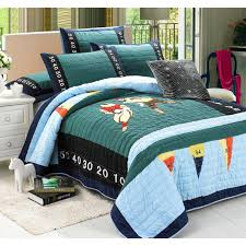 CHAUSUB Boys Handmade Quilt Set 2PCS Washed Cotton Quilts ... & CHAUSUB Boys Handmade Quilt Set 2PCS Washed Cotton Quilts Patchwork  Bedspread Rugby Bed Cover Sheet Kids Blanket Twin Size-in Quilts from Home  & Garden on ... Adamdwight.com